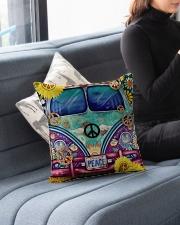 "Bus Peace Indoor Pillow - 16"" x 16"" aos-decorative-pillow-lifestyle-front-05"