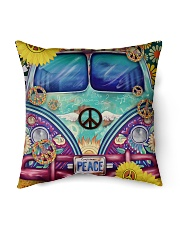 """Bus Peace Indoor Pillow - 16"""" x 16"""" back"""