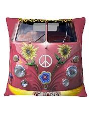 Hippie VW Bug Square Pillowcase thumbnail