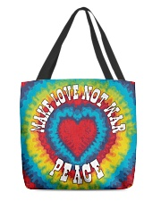 Make Love Not War All-over Tote back