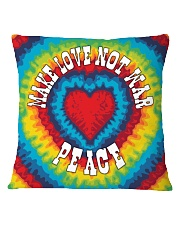 Make Love Not War Square Pillowcase thumbnail