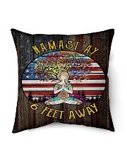 """NAMAST'AY 6 FEET AWAY Indoor Pillow - 16"""" x 16"""" thumbnail"""