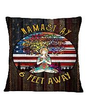 NAMAST'AY 6 FEET AWAY Square Pillowcase thumbnail
