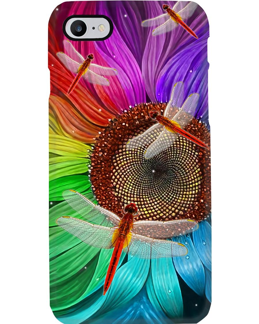 Sunflower - Dragonfly Phone Case