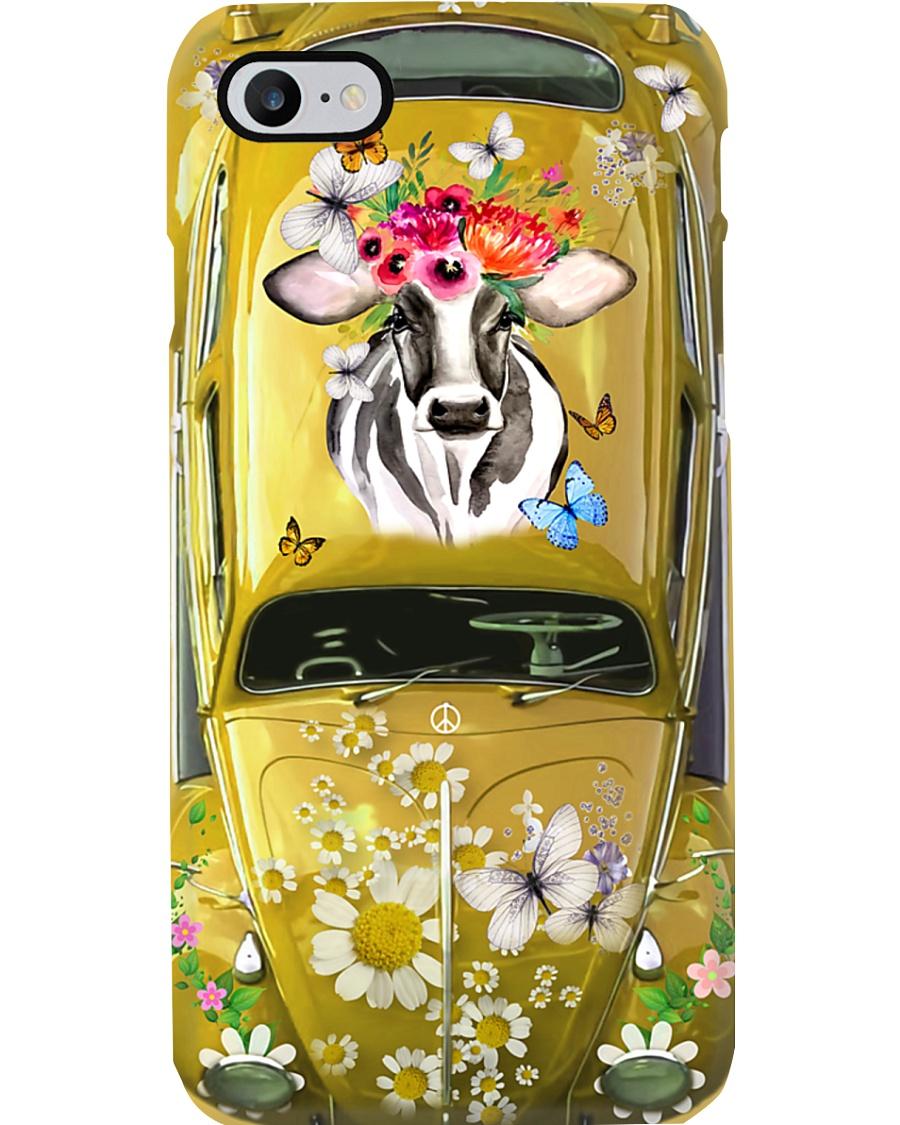 Hippie VW Bug Cow Phone Case