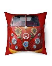 """Peace Vw Bus Indoor Pillow - 16"""" x 16"""" thumbnail"""