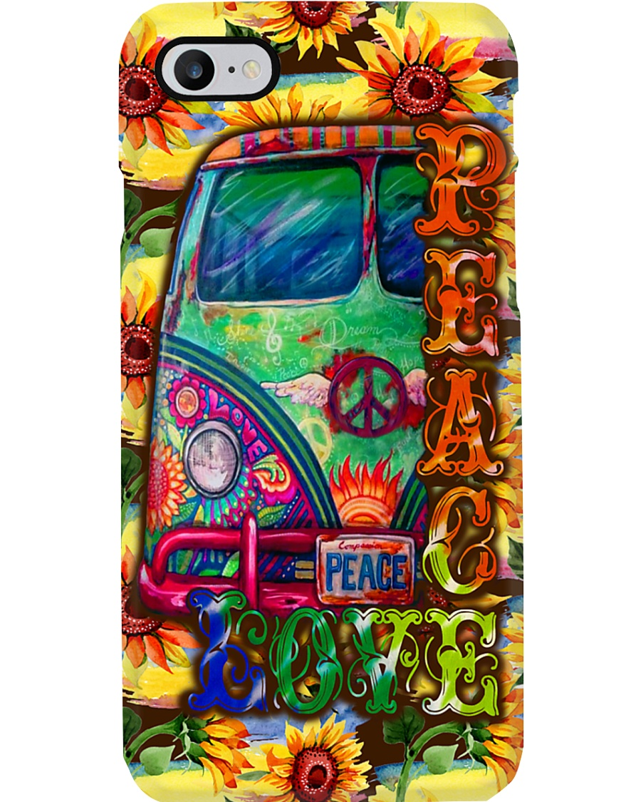Hippie Peace Love Phone Case