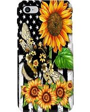 Sunflower Bee Phone Case i-phone-8-case