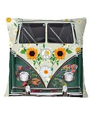 Sunflower VW Bus Square Pillowcase thumbnail