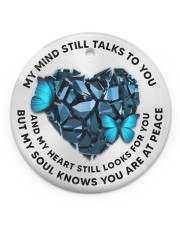 My Mind Still Talks To You Circle ornament - single (porcelain) front