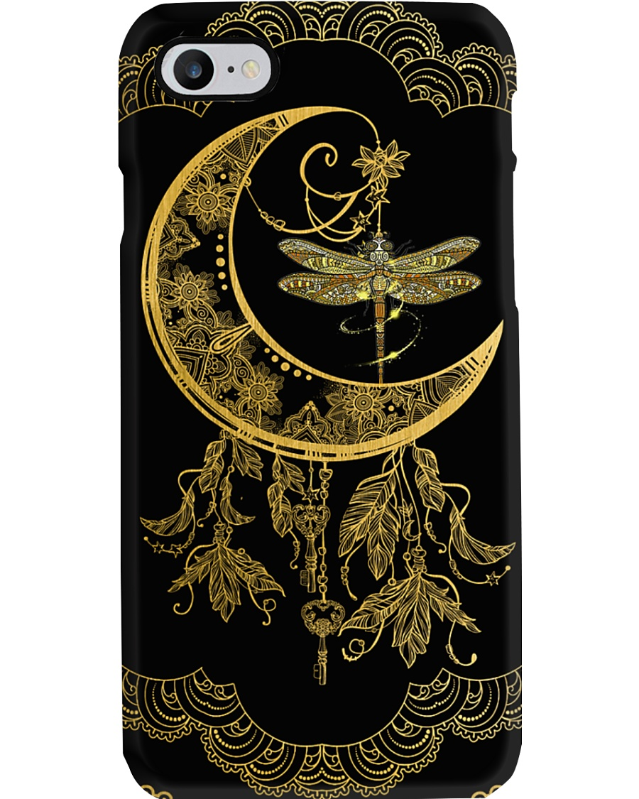 Dragonfly and moon Phone Case
