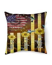 """Love Hope Faith Indoor Pillow - 16"""" x 16"""" thumbnail"""