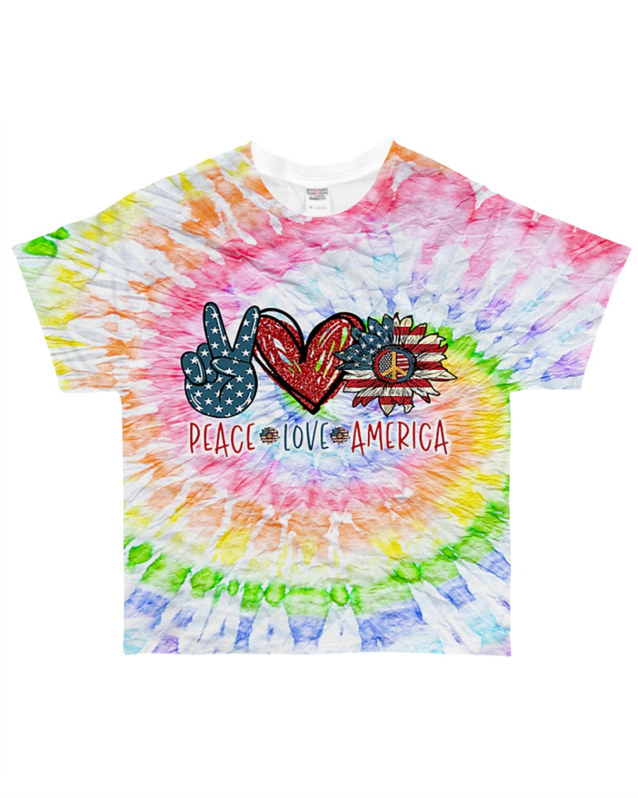 Peace Love American All-over T-Shirt