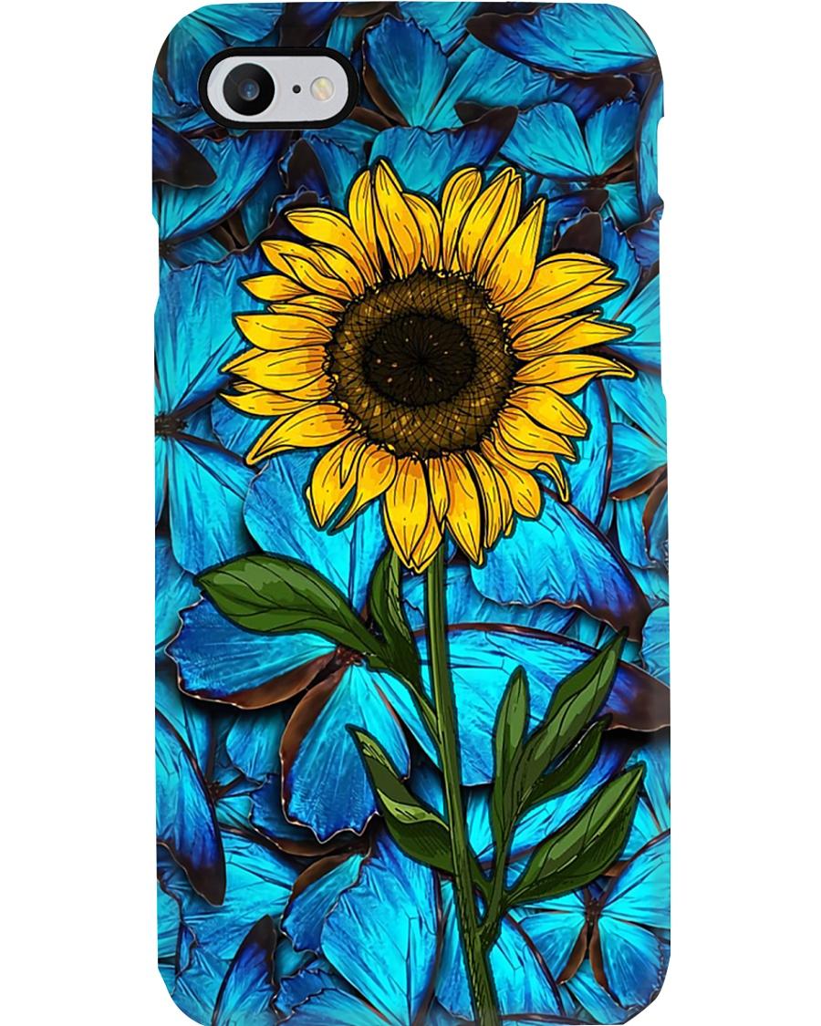 Sunlower butterflies Phone Case