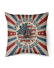 """Living Life In Peace Indoor Pillow - 16"""" x 16"""" thumbnail"""