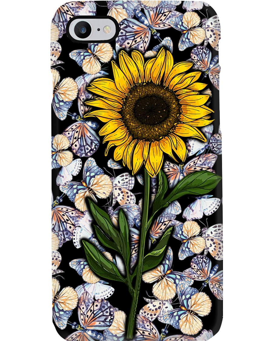 Sunflower - Butterfly Phone Case