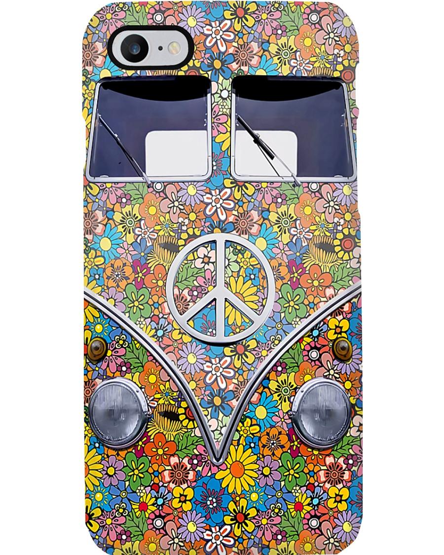 Hippie Girl - Vw Bus Phone Case