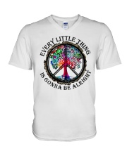 Every little thing gonna be all right V-Neck T-Shirt thumbnail