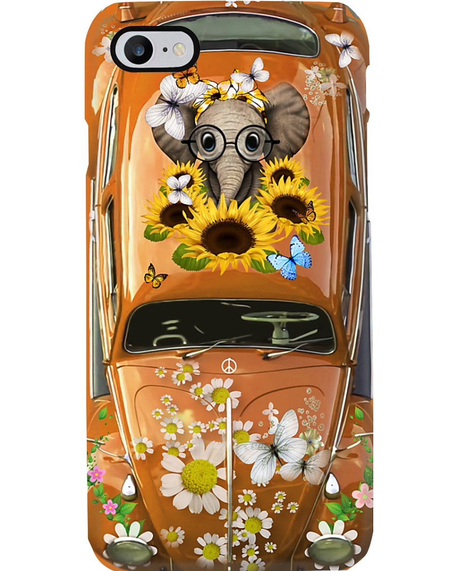Hippie VW Bug Elephant Phone Case