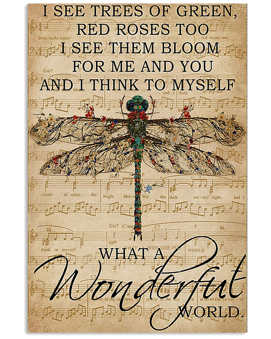 Music Sheet And I Think Dragonfly Vertical 11x17 Poster