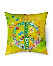 "Hippie - Peace Indoor Pillow - 16"" x 16"" thumbnail"