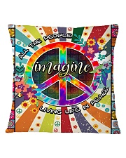 Living Life In Peace Square Pillowcase tile