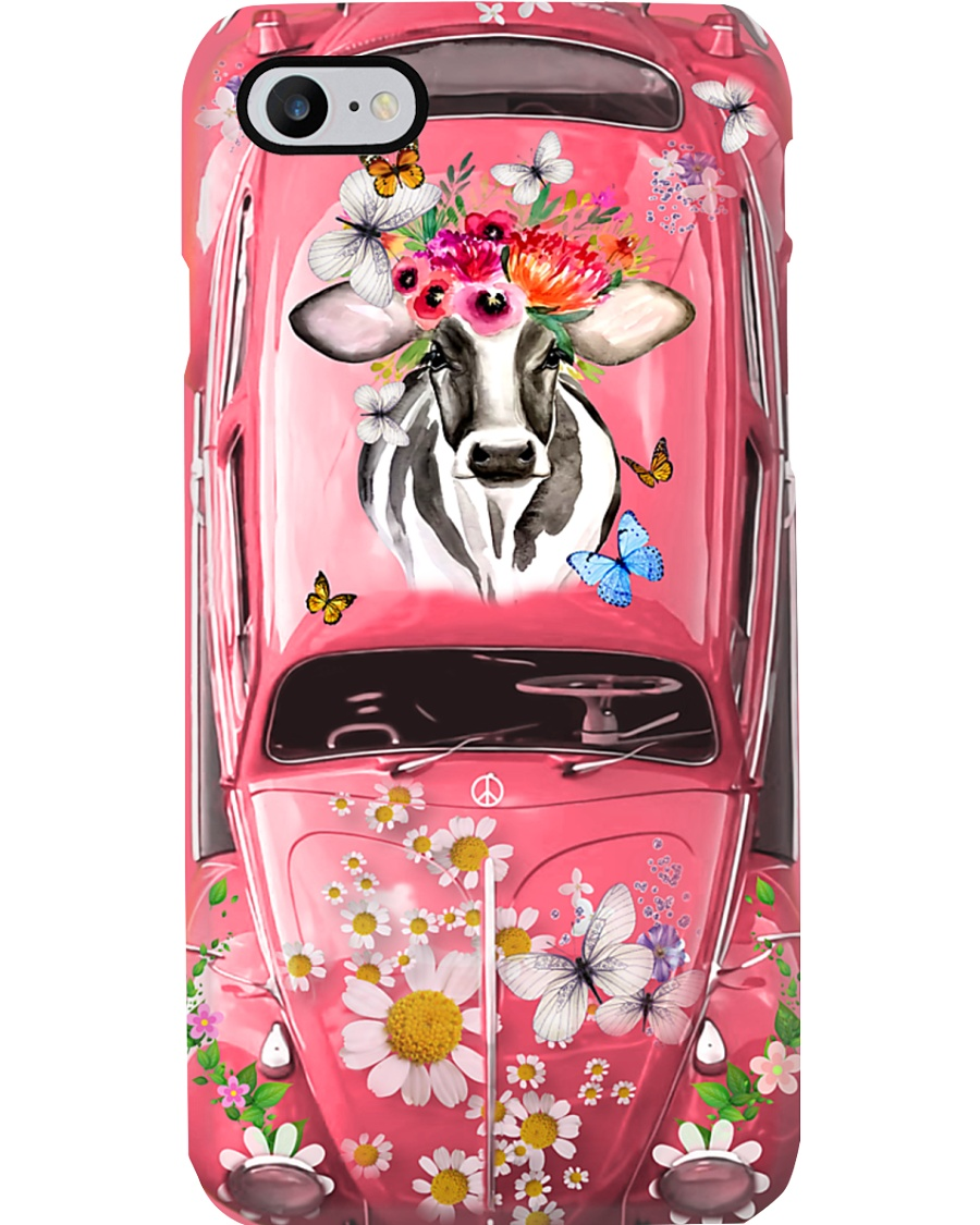 Hippie VW Bug Cow Phone Case