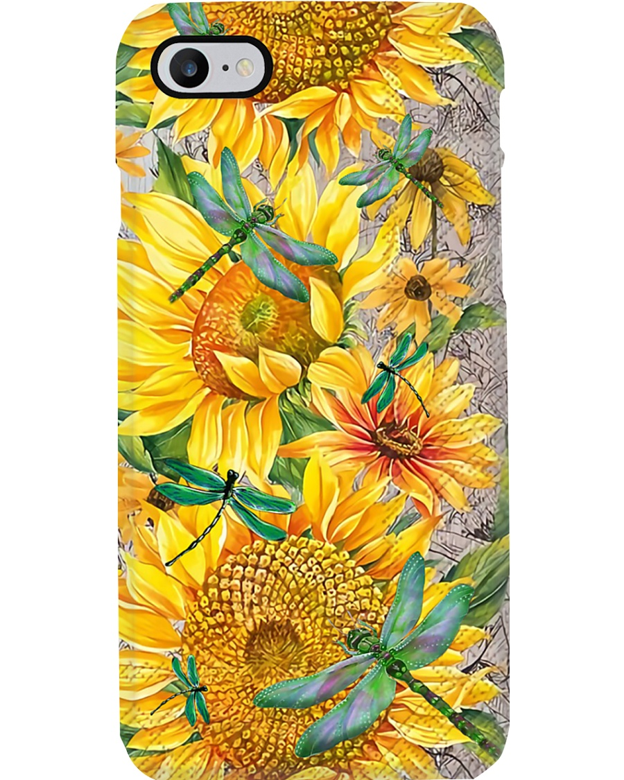 Dragonfly Sunflower Phone Case
