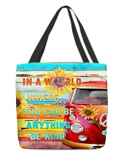in world where you can be anything be kind All-over Tote thumbnail