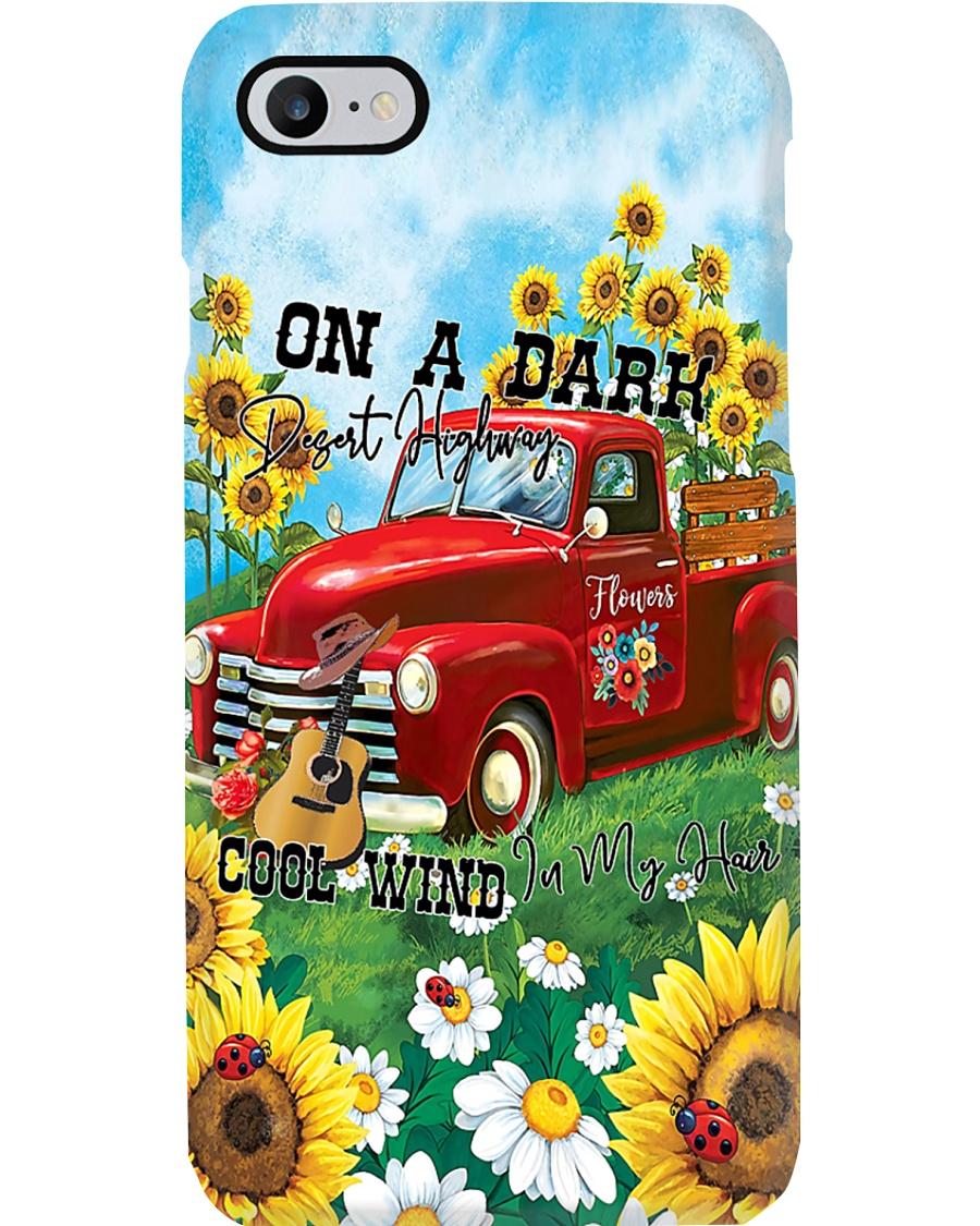 On A Dark Desert Highway Dog Feel Cool Wind In My  Phone Case