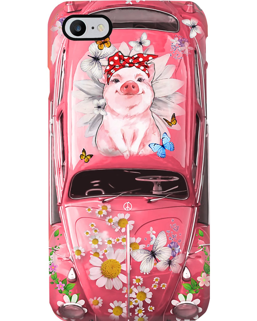Hippie VW Bug Pig Phone Case