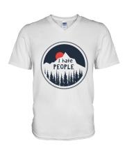 I Hate People V-Neck T-Shirt tile