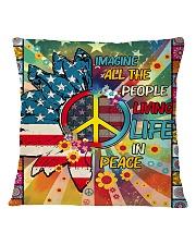Living Life In Peace Square Pillowcase thumbnail