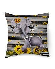 "Elephant Sunflower Indoor Pillow - 16"" x 16"" thumbnail"