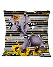 Elephant Sunflower Square Pillowcase thumbnail