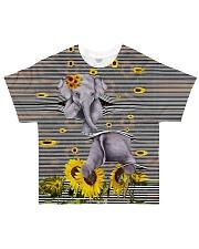 Elephant Sunflower All-over T-Shirt thumbnail