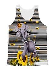 Elephant Sunflower All-over Unisex Tank thumbnail