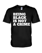 Being Black is Not a Crime V-Neck T-Shirt thumbnail