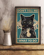 Dont Tell Me What To Do Black Cat 16x24 Poster lifestyle-poster-3