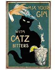 Mix your Gin with Catz bitters Black cat 16x24 Poster front