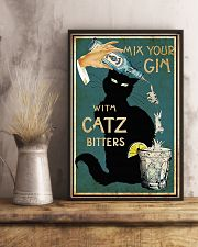 Mix your Gin with Catz bitters Black cat 16x24 Poster lifestyle-poster-3