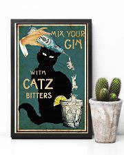 Mix your Gin with Catz bitters Black cat 16x24 Poster lifestyle-poster-8