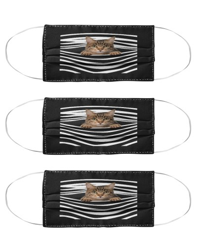 Tabby Cat Stripes FM Mask