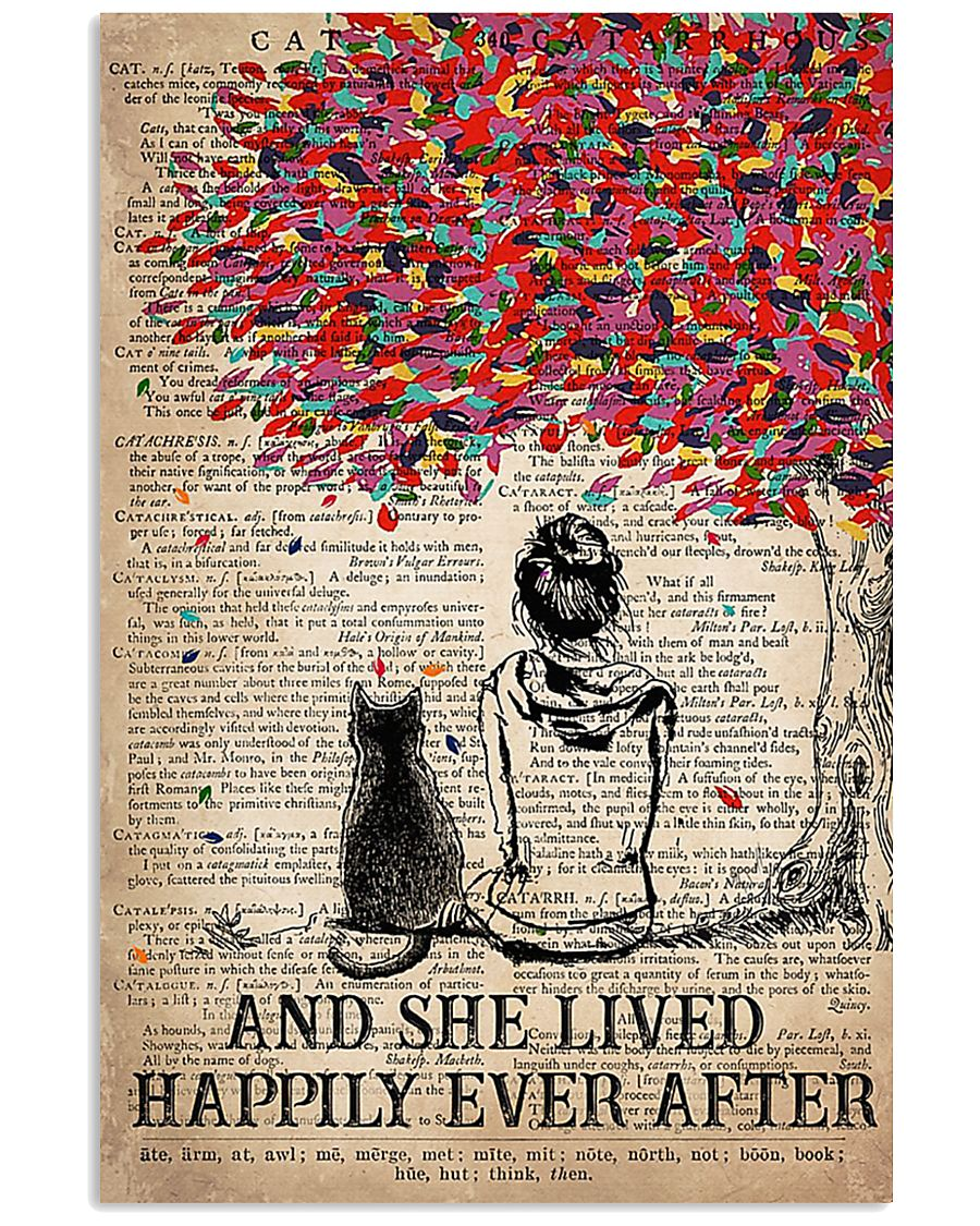 Cat And She Lived Happily Ever After Vertical 16x24 Poster