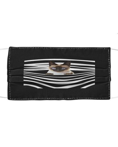 Siamese Cat Stripes FM Mask