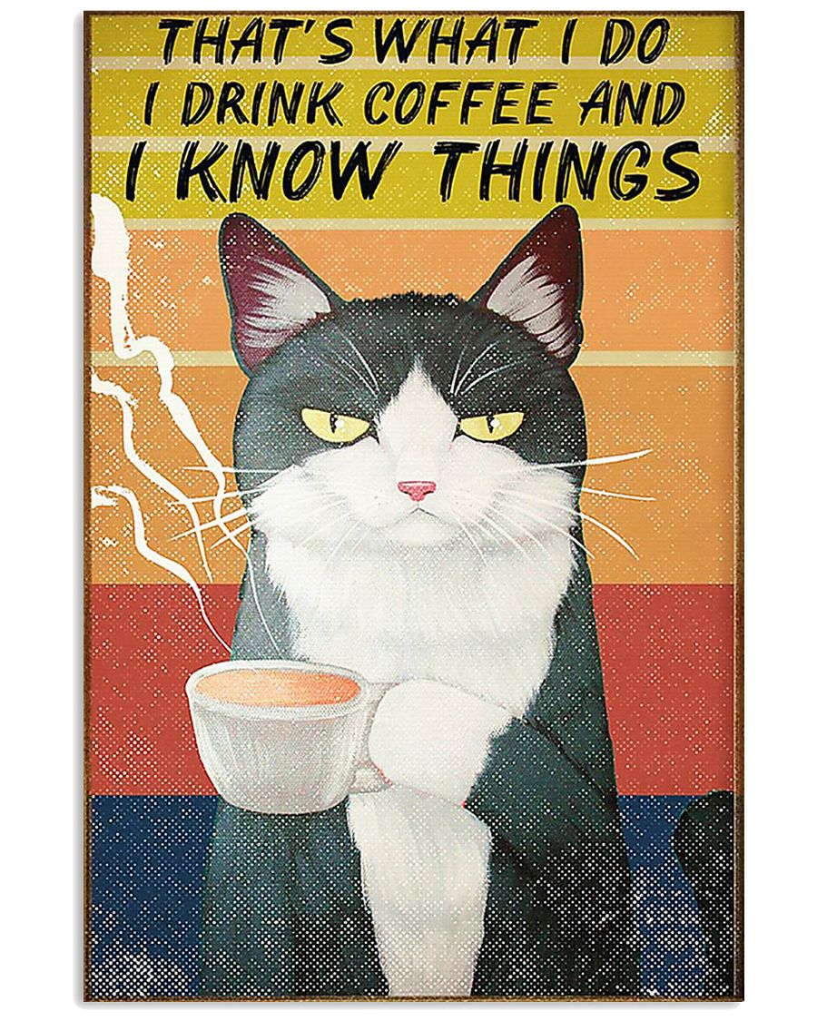 Thats what I do- I drink coffee and I know things 16x24 Poster