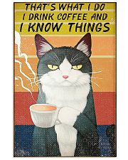 Thats what I do- I drink coffee and I know things 16x24 Poster front