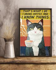 Thats what I do- I drink coffee and I know things 16x24 Poster lifestyle-poster-3