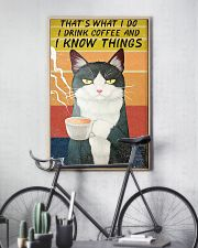 Thats what I do- I drink coffee and I know things 16x24 Poster lifestyle-poster-7