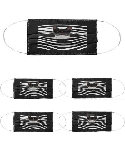 Tuxedo Cat Stripes FM Mask